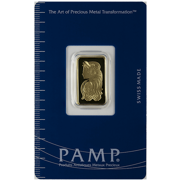 5 gram Pure Gold Bars - PAMP Suisse Lady Fortuna