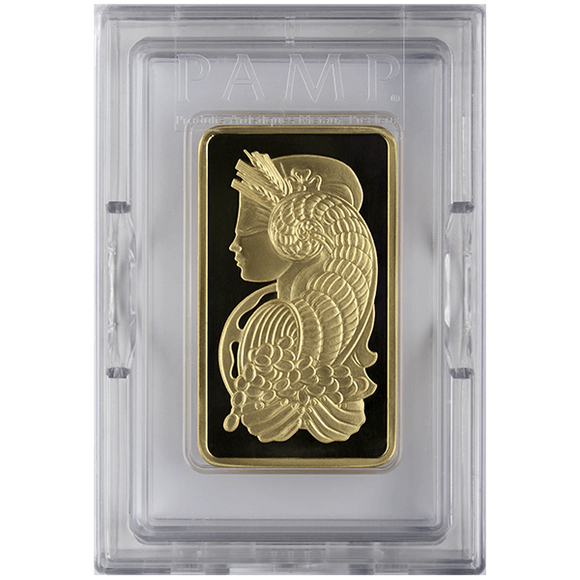 5 oz Pure Gold Bars - PAMP Suisse Lady Fortuna
