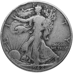 Silver U.S. Coinage 90 % $1.00 Face Value Walker