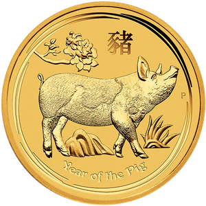 2019 1 OZ PERTH MINT GOLD PIG