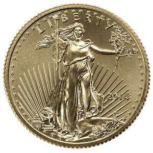 1/4 oz Gold American Eagle Common Date