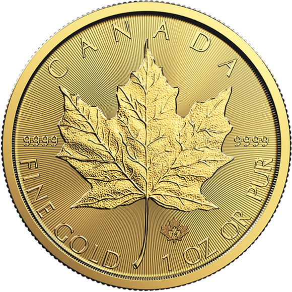 2018 1 oz Gold Canadian Maple Leaf