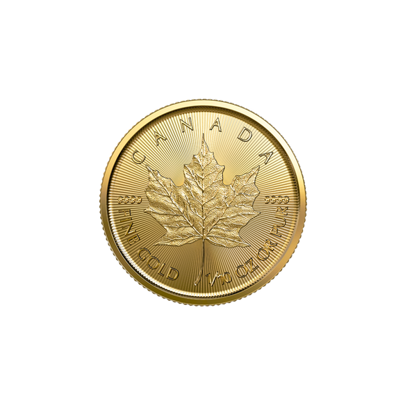 2019 1/10 oz Gold Canadian Maple Leaf