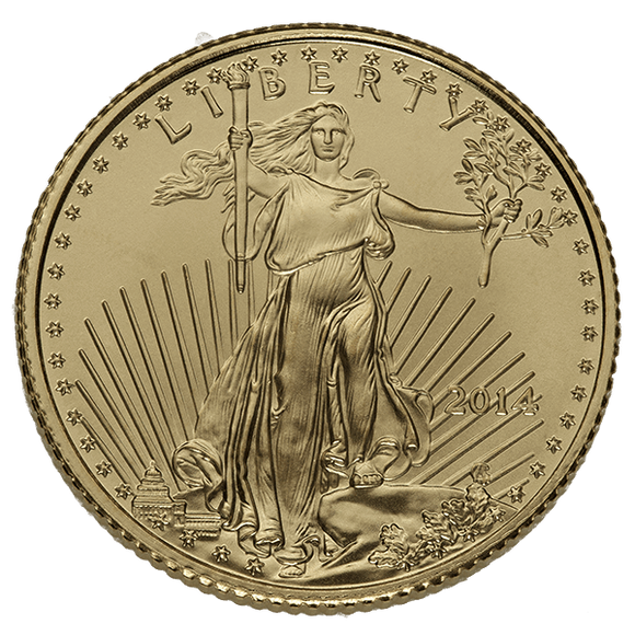1/10 oz Gold American Eagle Common Date