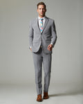 Blue Tempo Stretch Slim Fit 1-Pant Suit