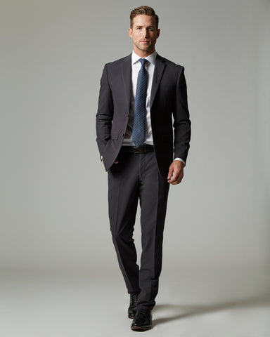 Charcoal Tempo Stretch Slim Fit 1-Pant Suit