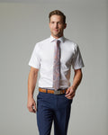 Tempo Stretch Slim Fit Dress Shirt (With Pocket)