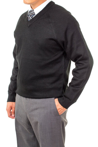 V-Neck Missionary Sweater Black Long Sleeve by CTR Clothing - The Kater Shop - 1