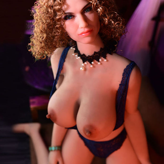 "5ft3"" Premium TPE Realistic C-cup Breast Lifelike Sex Love Doll ID:159-01"