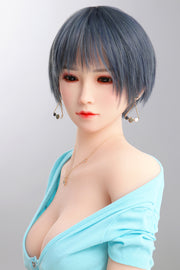 "4ft7"" Premium TPE Realistic D-cup Breast Men Sex Love Doll ID:140-53"