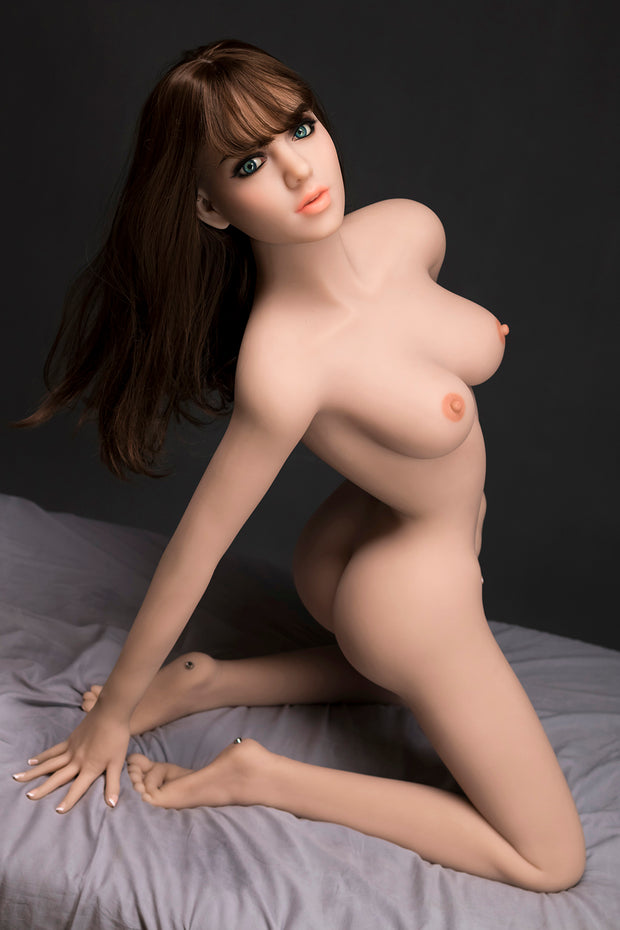 "4ft10"" Premium TPE Realistic C-cup Breast Lifelike Sex Love Doll ID:148-17"