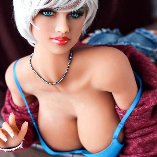 "5ft4"" Premium TPE Realistic H-cup Breast Lifelike Sex Love Doll ID:161-05"