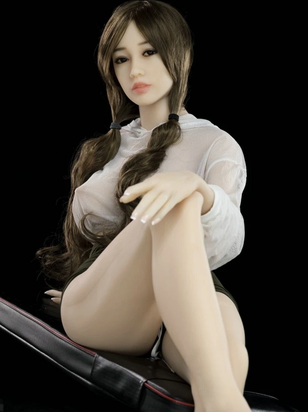 "4ft7"" Premium TPE Realistic D-cup Breast Lifelike Sex Love Doll ID:140-35"