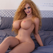 "5ft5"" Premium TPE Realistic H-cup Breast Lifelike Sex Love Doll ID:163-05"