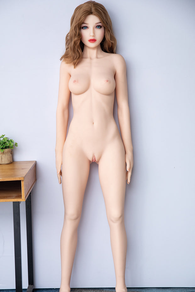 "6YE Brand 5ft4"" Premium TPE Realistic B-cup Breast Lifelike Sex Love Doll ID:162-08"