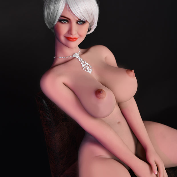 "5ft3"" Premium TPE Realistic F-cup Breast Lifelike Sex Love Doll ID:158-07"