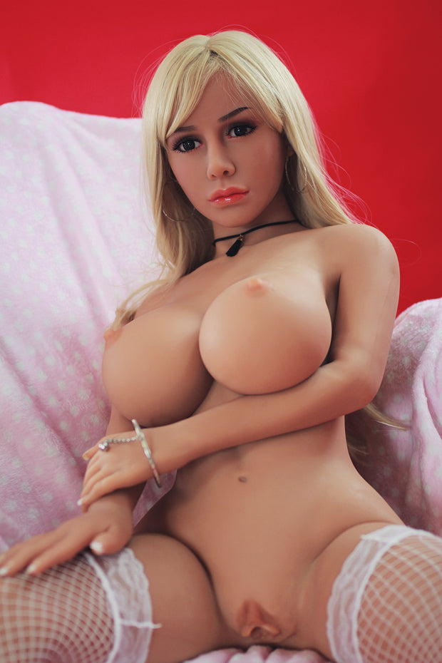 "4ft7"" Premium TPE Realistic D-cup Breast Men Sex Love Doll ID:140-07"
