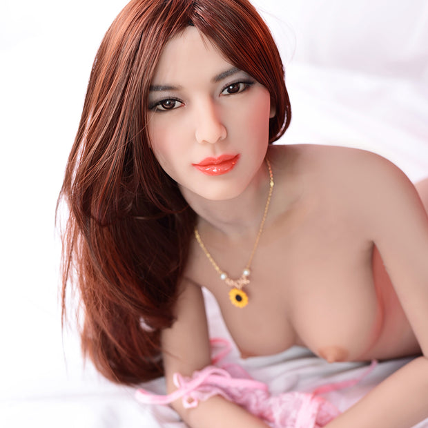 "5ft3"" Premium TPE Realistic A-cup Breast Lifelike Sex Love Doll ID:158-09"