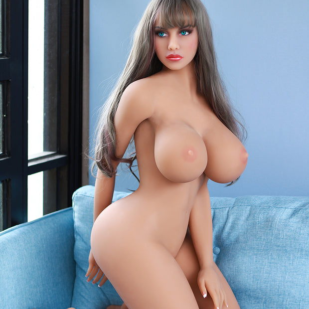 "5ft4"" Premium TPE Realistic H-cup Breast Men Sex Love Doll ID:161-02"