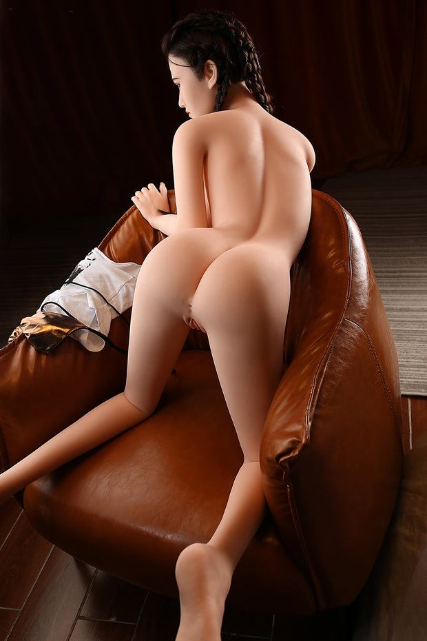 "5ft3"" Premium Silicone Realistic A-cup Breast Lifelike Sex Love Doll ID:160-14"