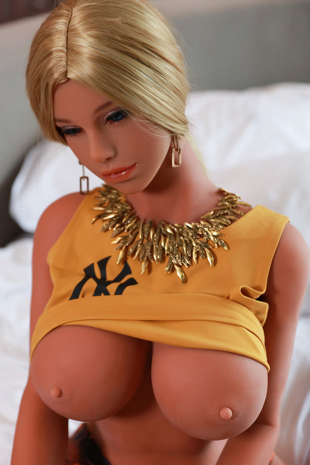"3ft8"" Premium TPE Realistic C-cup Breast Lifelike Sex Love Doll ID:110-02"