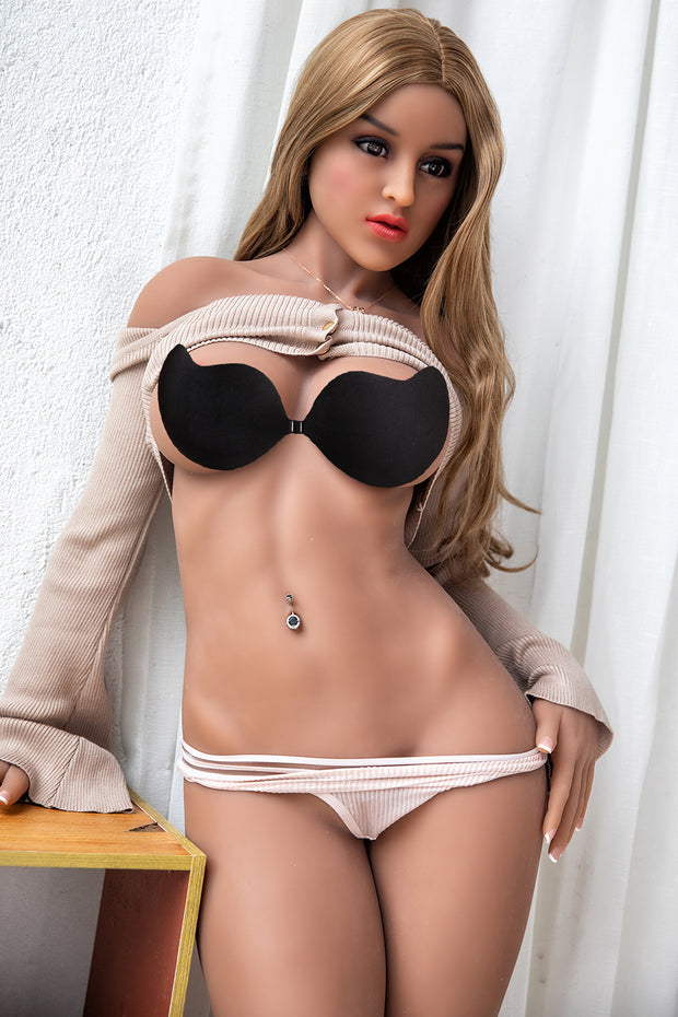"HRDOLL Brand 5ft5"" Premium TPE Realistic D-cup Breast Lifelike Sex Love Doll ID:165-32"