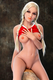 "4ft7"" Premium TPE Realistic B-cup Breast Lifelike Sex Love Doll ID:140-47"