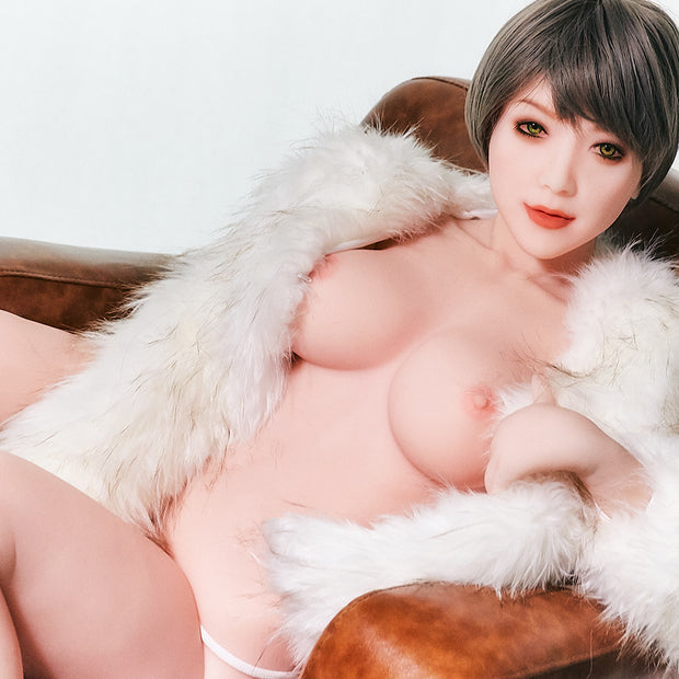 "HRDOLL Brand 5ft5"" Premium TPE Realistic D-cup Breast Lifelike Sex Love Doll ID:165-37"