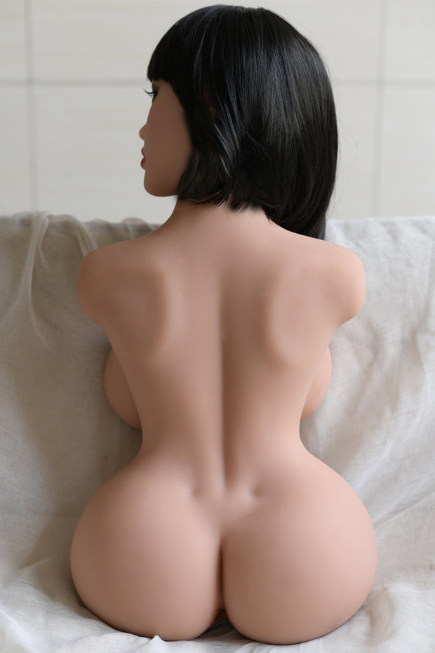 6YE Brand Premium TPE Realistic Big Breast Sexy Butt Lifelike Sex Torso Love Doll ID:T-07