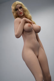 "6YE Brand 5ft5"" Premium TPE Realistic Sexy D-cup Breast Lifelike Upgraded Double-Jointed Skeleton Sex Love Doll ID:163-14"