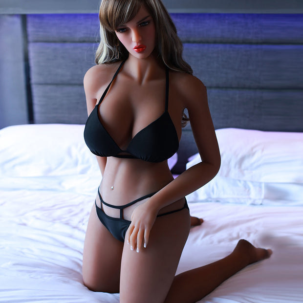 "5ft3"" Premium TPE Realistic D-cup Breast Lifelike Sex Love Doll ID:160-08"