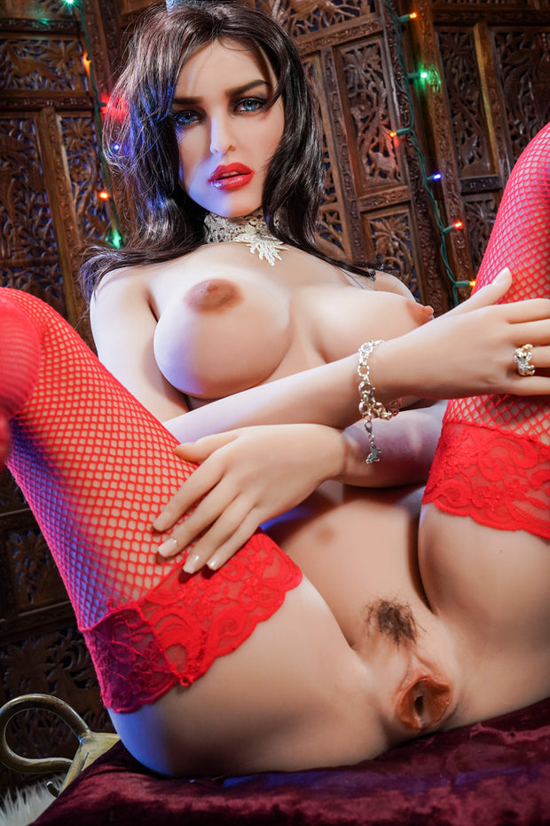 "6YE Brand 5ft5"" Premium TPE Realistic Sexy D-cup Breast Lifelike Upgraded Double-Jointed Skeleton Sex Love Doll ID:163-15"