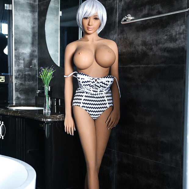"3ft10"" Premium TPE Realistic C-cup Breast Lifelike Sex Love Doll ID:115-01"