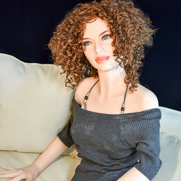 "5ft5"" Premium TPE Realistic A-cup Breast Lifelike Sex Love Doll ID:165-06"
