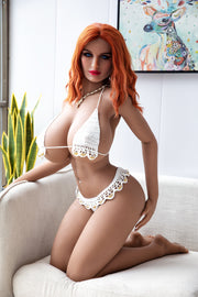 "HRDOLL Brand 5ft3"" Premium TPE Realistic M-cup Big Breast Lifelike Sex Love Doll ID:158-39"