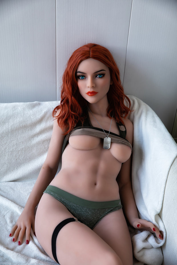 "HRDOLL Brand 5ft3"" Premium TPE Realistic A-cup Breast Lifelike Sex Love Doll ID:158-38"