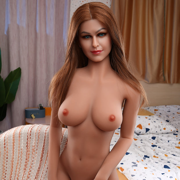 "5ft6"" Premium TPE Realistic C-cup Breast Lifelike Sex Love Doll ID:166-15"