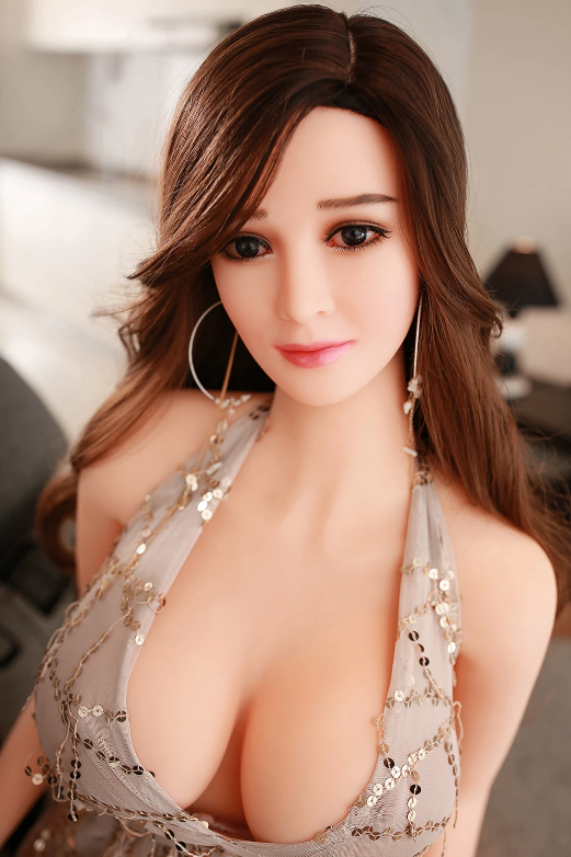 "5ft5"" Premium TPE Realistic E-cup Breast Lifelike Sex Love Doll ID:165-27"