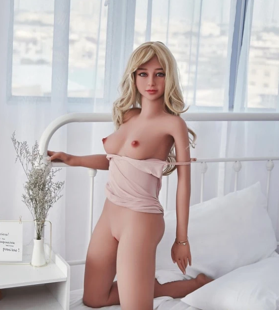 "4ft7"" Premium TPE Realistic B-cup Breast Lifelike Sex Love Doll ID:140-34"
