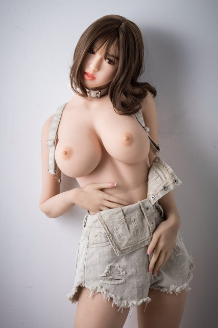 "5ft3"" Premium TPE Realistic F-cup Breast with Tongue Men Sex Love Doll ID:158-16"
