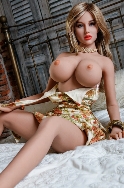 "5ft1"" Premium TPE Realistic A-cup Breast Lifelike Sex Love Doll ID:155-08"