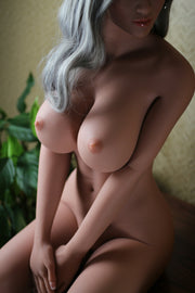 "5ft5"" Premium TPE Realistic E-cup Breast Men Sex Love Doll ID:165-07"