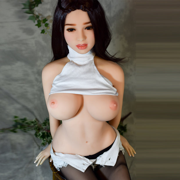 "4ft7"" Premium TPE Realistic D-cup Breast Men Sex Love Doll ID:140-13"