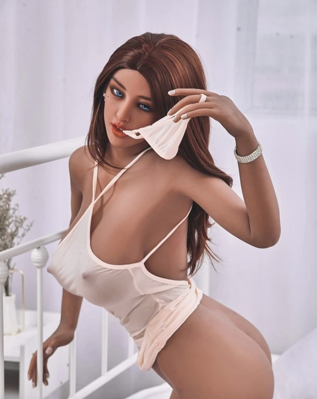 "5ft3"" Premium TPE Realistic E-cup Breast Lifelike Sex Love Doll ID:158-29"