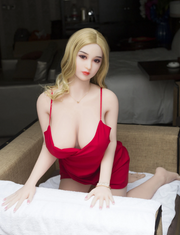 "5ft3"" Premium TPE Realistic E-cup Breast Lifelike Sex Love Doll ID:158-26"