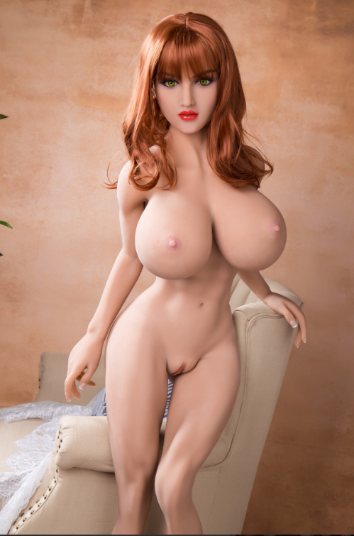 "5ft4"" Premium TPE Realistic H-cup Breast Men Sex Love Doll ID:161-03"