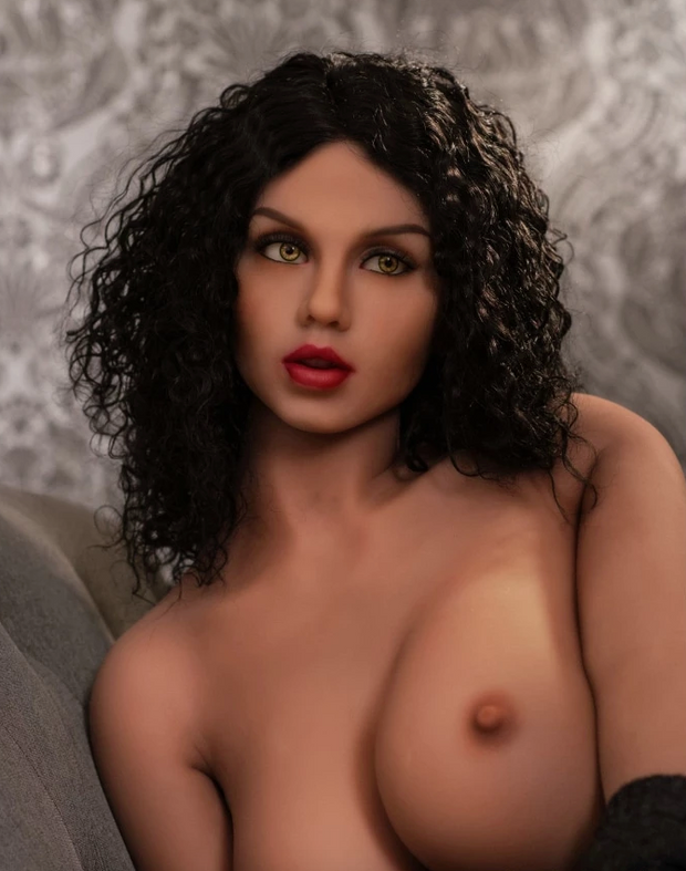 "5ft4"" Premium TPE Realistic H-cup Breast Lifelike Sex Love Doll ID:161-08"
