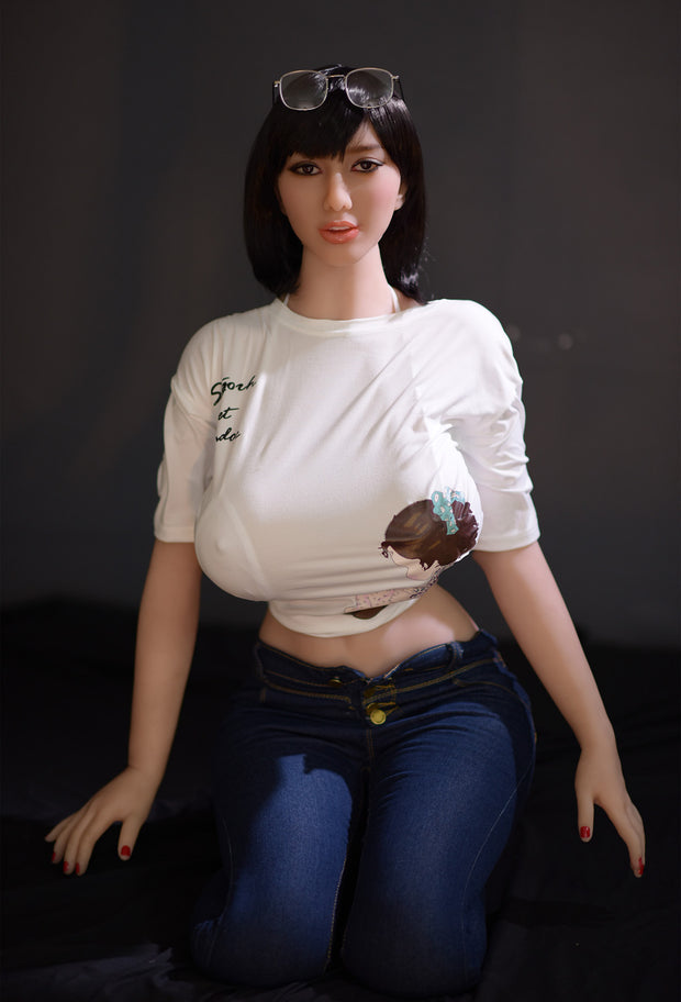 "6YE Brand 5ft5"" Premium TPE Realistic Sexy Big H-cup Breast Lifelike Sex Love Doll ID:163-10"