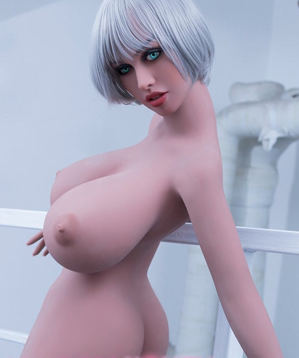 "5ft4"" Premium TPE Realistic H-cup Breast Lifelike Sex Love Doll ID:161-06"