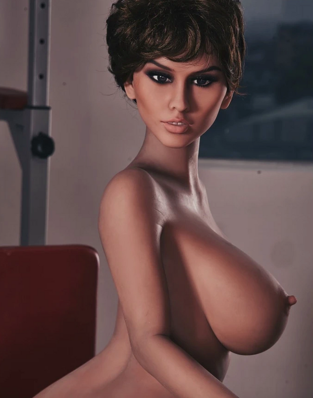 "5ft3"" Premium TPE Realistic E-cup Breast Lifelike Sex Love Doll ID:158-27"